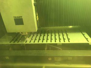 Laser cutting thin gauge sheet metal