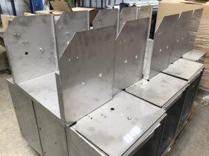 Folding sheet metal housings